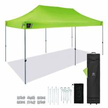 Shax 6015 Pallet of 10 Lime Heavy-Duty Pop-Up Tent - 10ft x 20ft