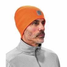 N-Ferno 6812  Orange Ribbed Knit Beanie