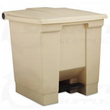 """Rubbermaid Commercial 6143-BEIG 8 Gal. Step-On Containerbeige 16-1/4""""Lx15"""