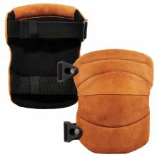ProFlex 230LTR  Brown Leather Knee Pads - Wide Soft Cap