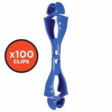 Squids 3400-BULK  Blue Glove Clip - Dual Clip Mount - 100 Pack