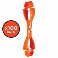 Squids 3400-BULK  Orange Glove Clip - Dual Clip Mount - 100 Pack