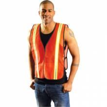 Occunomix LUX-XTTM-O4X 4X Occulux 2-Tone Mesh Vest:Orange