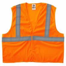 GloWear 8205HL S/M Orange Type R Class 2 Super Econo Mesh Vest
