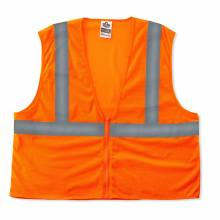 GloWear 8205Z S/M Orange Type R Class 2 Super Econo Mesh Vest