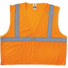 GloWear 8210HL XS Orange Type R Class 2 Economy Mesh Vest