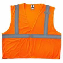 GloWear 8210HL S/M Orange Type R Class 2 Economy Mesh Vest