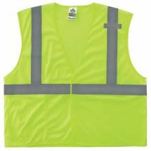 GloWear 8210HL S/M Lime Type R Class 2 Economy Mesh Vest