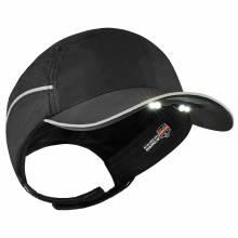 Skullerz 8965 Long Brim Black Lightweight Bump Cap Hat w/ LED Lighting