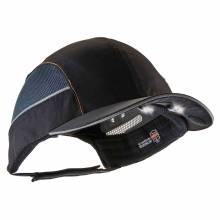 Skullerz 8960 Short Brim Black Bump Cap w/ LED Lighting Technology