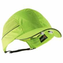 Skullerz 8960 Short Brim Lime Bump Cap w/ LED Lighting Technology