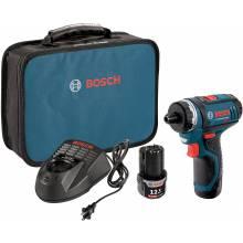 BOSCH PS21-2A 12V Max 2-Speed Pocket Driver Kit w/ (2) 2.0Ah Batteries