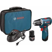 "BOSCH PS32-02 12V Max Brushless 3/8"" Drill Driver Kit w/ (2) 2.0Ah Batteries"