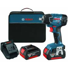 """BOSCH 24618-01 18V 1/2"""" Impact Wrench w/ (2) FatPack Batteries (4.0Ah)"""