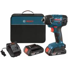 BOSCH 25618-02 18V Impact Driver w/ (2) SlimPack Batteries (2.0Ah)