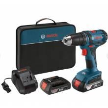 BOSCH DDH181X-01 18V Brute Tough™ Drill Driver w/ (2) FatPack Batteries (4.0Ah)