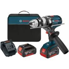 BOSCH HDH181X-01 18V Brute Tough™ Hammer Drill Driver w/ (2) FatPack Batteries (4.0Ah)