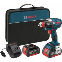 BOSCH IDH182-02 18V Brushless Socket Ready Impact Driver w/ (2) SlimPack Batteries (2.0Ah)