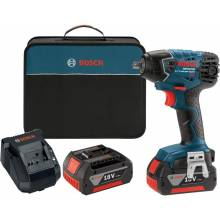 """BOSCH IWH181-01 18V 3/8"""" Impact Wrench w/ (2) FatPack Batteries (4.0Ah)"""