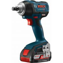 BOSCH IWMH182-01 18V Brushless Mid-Torque Impact Wrench w/ (2) FatPack Batteries (4.0Ah)