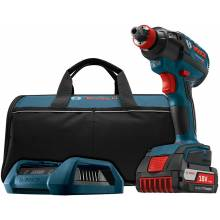 BOSCH IDH182WC-102 18V Brushless Socket Ready Impact Driver, Charger, Frame & Wireless Charge SlimPack Battery (2.0Ah)