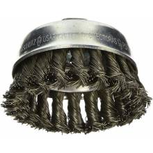 """BOSCH WB509 3"""" Cup Brush, Knotted, Carbon Steel,  5/8"""" x 11"""" Arbor"""