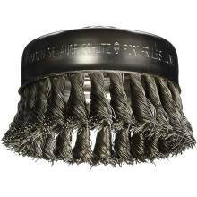 """BOSCH WB510 4"""" Cup Brush, Knotted, Carbon Steel,  5/8"""" x 11"""" Arbor"""