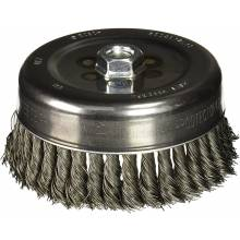 """BOSCH WB511 6"""" Cup Brush, Knotted, Carbon Steel,  5/8"""" x 11"""" Arbor"""