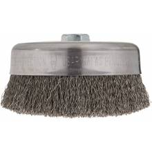 """BOSCH WB526 6"""" Cup Brush, Crimped, Carbon Steel,  5/8"""" x 11"""" Arbor"""