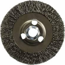 "BOSCH WB569 4"" Wire Wheel, Crimped, CS,  5/8"" x 11"" Arbor"