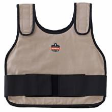 Chill-Its 6235 S/M Khaki Standard Phase Change Cooling Vest - Vest Only
