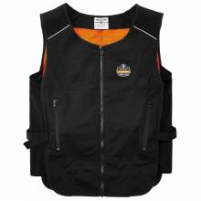 Chill-Its 6255 L/XL Black Lightweight Phase Change Cooling Vest