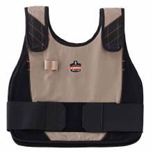Chill-Its 6225 L/XL Khaki Premium FR Phase Change Cooling Vest - Vest Only
