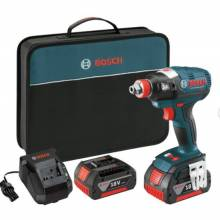 BOSCH IDH182-01 18V Brushless Socket Ready Impact Driver w/ (2) FatPack Batteries (4.0Ah)