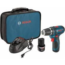 "BOSCH PS31-2A 12V Max 3/8"" Drill Driver Kit w/ (2) 2.0Ah Batteries"