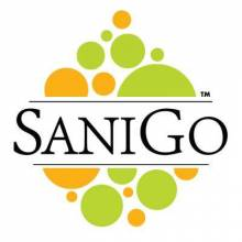 SaniGo - Industrial Grade Hand Sanitizer - Gel - 2oz w/ Disc Top Cap