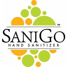 SaniGo - Industrial Grade Hand Sanitizer - Liquid - 1 Liter w/ Pump, Case of 6