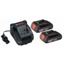 BOSCH SKC181-02 18V Starter Kit - (2) SlimPack (2.0Ah) Batteries & Charger