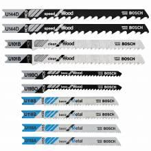 BOSCH U500A10 Universal Shank Jigsaw Blade  Assortment, (10 Pcs)
