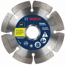 "BOSCH VG4541 4-1/2"" x 7/8"" segmented v-groove diamond blade for general purpose"