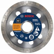 "BOSCH VG4542 4-1/2"" x 7/8"" turbo v-groove diamond blade for general purpose"