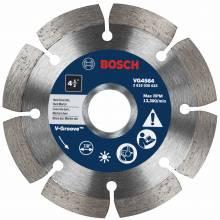 """BOSCH VG4564 4-1/2"""" x 7/8"""" segmented v-groove diamond blade for hard material"""