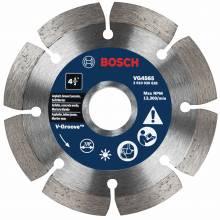 "BOSCH VG4565 4-1/2"" x 7/8"" segmented v-groove diamond blade for soft material"