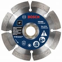 "BOSCH VG465 4"" x 7/8-5/8"" segmented v-groove diamond blade for soft material"