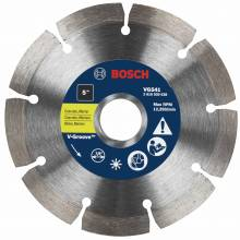 "BOSCH VG541 5"" x 7/8"" segmented v-groove diamond blade for general purpose"