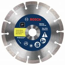 "BOSCH VG741 7"" x 7/8"" segmented v-groove diamond blade for general purpose"
