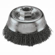 """BOSCH WB524 3"""" Cup Brush, Crimped, Carbon Steel,  5/8"""" x 11"""" Arbor"""
