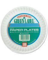 "Ajm PP9GREWH (Bag/100) 9"" White Paperplates Gre (10 BG)"