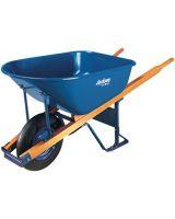 Ames True Temper M6FFBB Wheelbarrow 6 Cu Ft Steel Flat Free Wheel