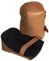 Alta 039-30903 Natural Pro Leather Kneepads W/Buckle Fa (1 PR)